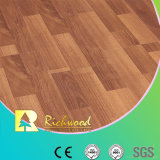 Commercial 8.3mm E1 Embossed Walnut Waxed Edge Laminated Floor