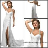 Jewelry Halter Bridal Dresses Beach Chiffon Wedding Gowns Z1041