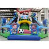 Inflatable Obstacle Game Climbing Playground with Slide