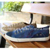 Vulcanized Shoes Rubber Outsole Canvas Men Shoes (SNC-02083)