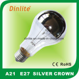 A21 Incandescent Silver Crown Bulb