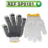 PVC Dotted Cotton Glove Working Glove Garden Glove (SP0101)