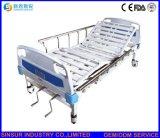 Hospital Furniture Double-Crank Manual Steel-Strip Castors Patient Medical Bed