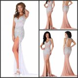 Crystal Prom Party Gowns Split Cocktail Evening Dresses Ra939