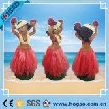 Polyresin Bobble Waist, Resin Hawaii Hula Girls (HG090)