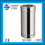 Stainless Steel Chimney Fireplace Double Wall Spigot-Lock Straight Pipe