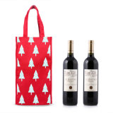 Fashion Non-Woven Gift Wine Bottle Carrier Bag for Sale (CWB-2033)