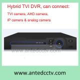 Hybrid 16 Channel HD Tvi DVR NVR Ahd DVR for CCTV Systems