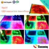 Amazing Coloful LED Interactive Effect Liquid Portable Flooring
