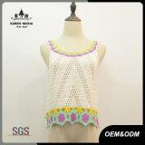 Women Fashion Acrylic Crop Crochet Vest Sweater