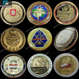 Factory Directly Wholesale High Quality Custom Souvenir Die Casting Brass Soft Enamel Metal Gold Coin