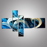 Aluminum Painting, 3D Metal Wall Art with Abstract Design