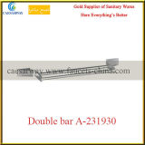 Sanitary Ware Bathroom Brass Fittings Double Bar