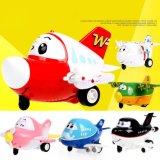 147102-Mini Inertial Traffic Cartoon Model Aircraft Fun Toys for Children Kids with Sound, Light, Eye Blink Function