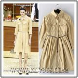 China Wholesale European Fashion Office Ladies Coat Style Shirt Dress