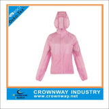Pink Nice Sports Hooded Lightweight Jacket for Girl