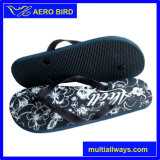 Lady Footwear with Flower Print for Summer Style