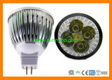 12V MR16 3W Lathe Aluminum Round Tilt Recessed LED Spotlight