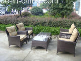 Cheap Rattan Furniture/Outdoor Furniture/Poly-Rattan Sofa Set with Coffee Table - Brown