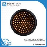 200mm Yellow Round Aspect LED Traffic Light Signal