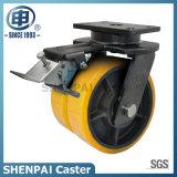 "8""Iron Core PU Swivel Locking Double Caster Wheels"