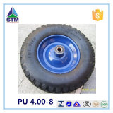 16 Inches Hard-Wearing Low Price PU Flat Free Wheels