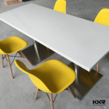 Dining Furniture Square White Solid Surface Dining Table