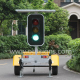 Solar Power Mobile LED Traffic Signal Lights