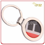 Promotion Gift Cheap Printed Round Metal Key Chain