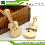 Hot 2017 Musical Wooden Guitar Pen Drive with Free Shipping