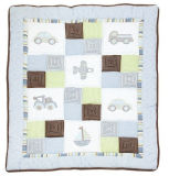 Patchwork Baby Quilt with Ship Car Plain Patterns for Baby Boy Very Cool