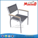 Stackable Mesh Fabric Outdoor Aluminum Chair