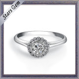 White Cubic Zirconia 925 Sterling Silver Female Ring