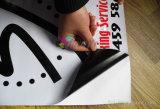 Weather Resistant Black Self-Adhesive PVC Vinyl Sticker Digital Printing