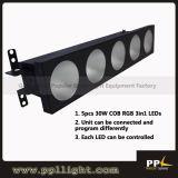 COB 5X30W RGB or White LED Matrix Bar Light