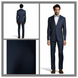 OEM Factory Price Customized Men′s 100% Wool Dark Navy Slim Fit Trendy Suit Men Wedding Suit