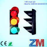 En12368 Approved LED Flashing Traffic Light / Traffic Signal with Clear Lens