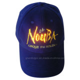 High Quality LED Cotton Baseball Cap with Optical Fiber Lights