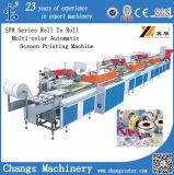 Screen Printer for Ribbon/Satin/Fabric/Non-Woven/Garment Label/PP, PVC, PE, Pet Film (serigrafia) Silkscreen Printing Machine
