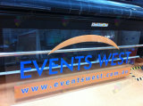 customized made printed transparent clear acrylic company logo panels