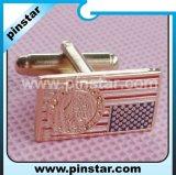 Die Casting Make Custom Cuff-Link Metal Brass Cufflink Manufacturer