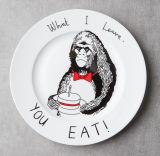 Lovely Monkey Pattern Ceramic Plate