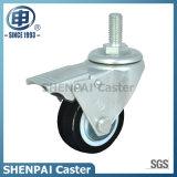 """2.5""""Nylon Threaded Stem Swivel Locking Caster Wheel"""