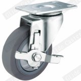 Medium Duty Single Bearing TPR Caster with Side Brake (G3317)