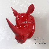 Hotsale Resin Rhinoceros Head Christmas Wall Art Decoration