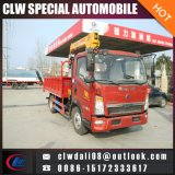 Sinotruk HOWO 4*2 Truck Mounted Crane, 5-7ton Loading of Crane, China Truck with Crane for Sale