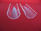 Arc Transparent Quartz Glass Plate with Edge Polishing
