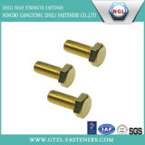 DIN933 Ywllow Zinc Plated Carbon Steel Hexagon Head Bolts