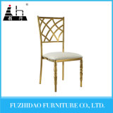 Modern Gold Banquet Stainless Steel Dining Chair
