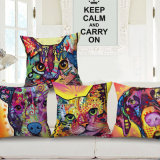 European Style Cotton Linen Digital Printed Cushion Cover Without Filler (35C0163)